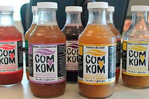 Bebidas de kombucha industriales.